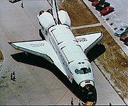 Challenger lors de la mission STS-8.