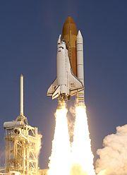 La navette spatiale Atlantis au lancement de STS-115.