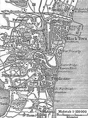 Carte de la ville coloniale (1888)