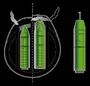 Comparaison des systèmes d'armes: à gauche, SNLE équipé du M4. À droite, SNLE-NG équipé du M45, et le futur M51