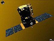 Le satellite SoHO. Lanc�e en 1995, la mission d'exploration solaire SoHO est l'une des plus importantes du genre. Elle est toujours � l'œuvre en 2006.