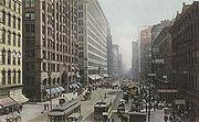 La rue State vers 1907
