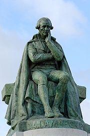 Statue par Léon Fagel, sur le monument érigé en 1908 par souscription universelle au Jardin des Plantes de Paris