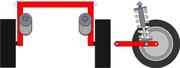 Suspension de type pont oscillant utilisé sur le train arrière automobile