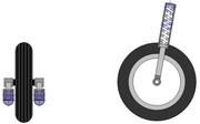 Suspension de type fourche téléscopique pour motocyclette