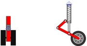Suspension de type téléscopique utilisée dans le domaine de l'aviation (russe)
