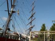 Une partie du gréement d'un grand voilier