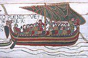 Bateau du XIe siècle, tapisserie de Bayeux