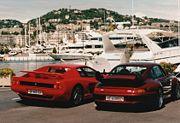 Porsche 993 GT2 (Droite) sur le port de Cannes