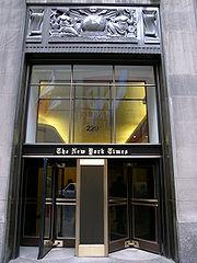 Le siège du New York Times