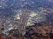 Vue aérienne de l'aéroport de Toulouse