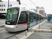 Nouveau tramway sur la ligne B à Grenoble.