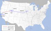 Carte de la construction du transcontinental