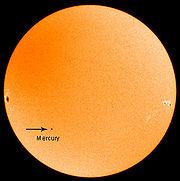 Transit de Mercure (Mercury) du 8 novembre 2006.