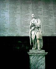 Statue d'Isaac Newton à Trinity College, Cambridge.