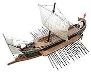 Maquette de trirème romaine