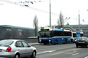 Trolleybus à Lucerne.