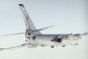Vue arrière montrant la tourelle arrière surmonté par le radar de visé Bee Hind et les deux bulles d'observation du radio, ainsi que la tourelle ventrale en position escamotée