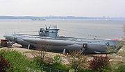 Le U-995, de Type VII C, au mémorial naval de Laboe.