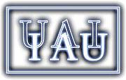 Logo de l'UAI, sigle en français et en anglaisUAI pour Union astronomique internationale et IAU pour International Astronomical Union