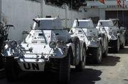 Des Ferrets de l'armée népalaise participant à l'UNOSOM à Mogadiscio, en Somalie (1993)