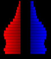 Pyramide des âges de la ville de los Angeles