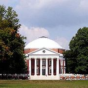 La rotonde de l'université de Virginie, dessinée par Thomas Jefferson, 1817, style palladien