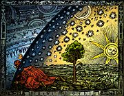 Universum - C. Flammarion, gravure sur bois, Paris 1888, Coloris�: Heikenwaelder Hugo, Wien 1998.