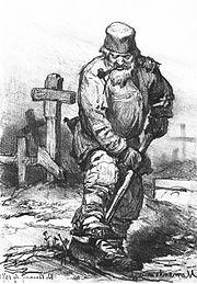 Fossoyeur, par Viktor Vasnetsov (1871)