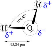 Dipôle de la molécule d'eau