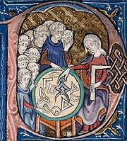 Illustration des Éléments d'Euclide, vers 1309 - 1316.