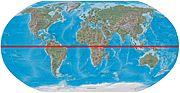 Carte du monde mettant en évidence l'équateur