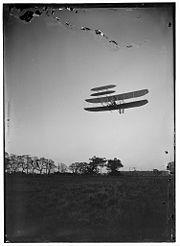 1905, un des vols des fréres Wright