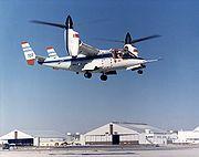 Un XV-15 lors d'un vol d'essai, en octobre 1980
