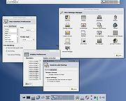 L'environnement XFCE avec son panneau de configuration