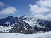 Le glacier Stubaier sur le Jochdohle en Autriche