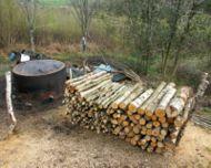 Fours à charbon de bois en Grande-Bretagne