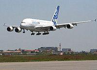 Premier atterrissage de l'A380