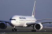 Le F-GSPA est le premier 777-200 d'Air France.