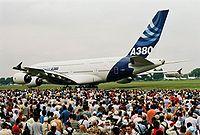 Première présentation de l'A380 au 46ème Salon Aéronautique du Bourget le 17/06/2005.