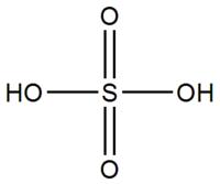 Molécule d'acide sulfurique non dissoute