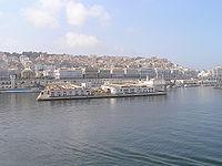Vue sur le front de mer et la Casbah