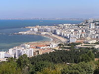 La baie d'Alger vue de l'ouest