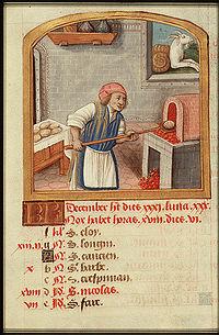 BoulangerCalendrier du Moyen Âge.