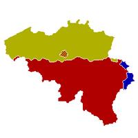 Carte de la Belgique fédérale