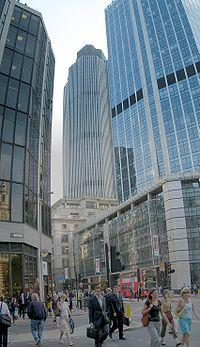 Bishopsgate dans la Cité de Londres.