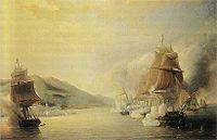 Représentation des bombardements d'Alger en 1830