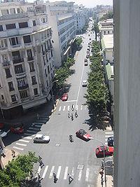 Vue sur le Boulevard de Paris dans le centre ville.