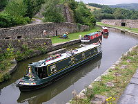 Part of Bugsworth Basin, Buxworth, Derbyshire at grid reference SK021820
