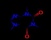 Structures 2D et 3D de la caféine